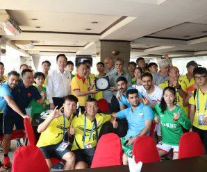 ดร.อมร ร่วมให้กำลังใจนักกีฬาAsia Pacific Deaf Futsal Championship ครั้งที่ 3 ระหว่างทีมชาติจีนกับอินโดฯ