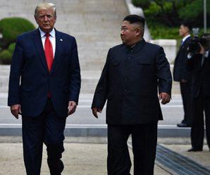 ภาพประวัติศาสตร์ ทรัมป์ จับมือคิม นับเป็นผู้นำสหรัฐฯ ที่ได้เหยียบเกาหลีเหนือ
